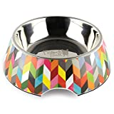 French Bull 24 oz. Pet Bowl, 2 Piece - Dog, Cat, Feeder, Nonslip, Stainless Steel, Raised - Ziggy
