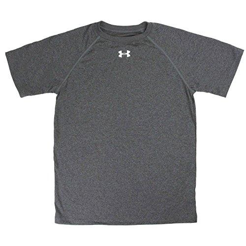 Under Armour Boy's UA Locker T-Shirt Carbon Heather/White S