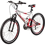 Merax Falcon Full Suspension Mountain Bike Aluminum Frame 21-Speed 26-inch Bicycle For Sale