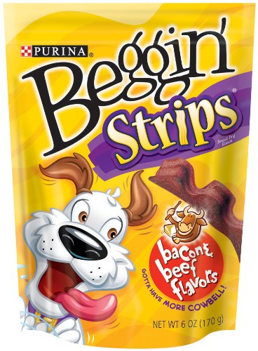 (Purina Beggin Strips Dog Snacks, Beef & Bacon, 6 oz)