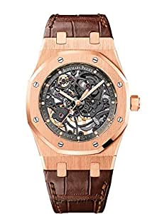 Audemars Piguet Royal Oak Automatic, Anthracite Skeleton Dial - Rose Gold on Strap
