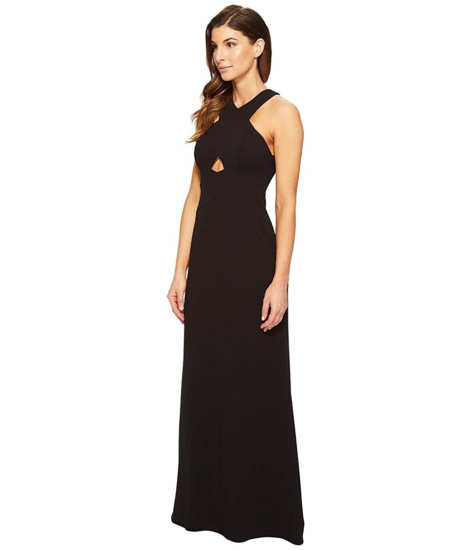 2cf14bf6298 Aidan Mattox Womens Scuba Crepe Long Gown With Cut Out Detail and Open Back  at Amazon Women s Clothing store