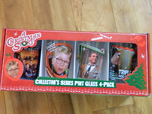 A Christmas Story Set of 4 Pint Glasses Classic Series