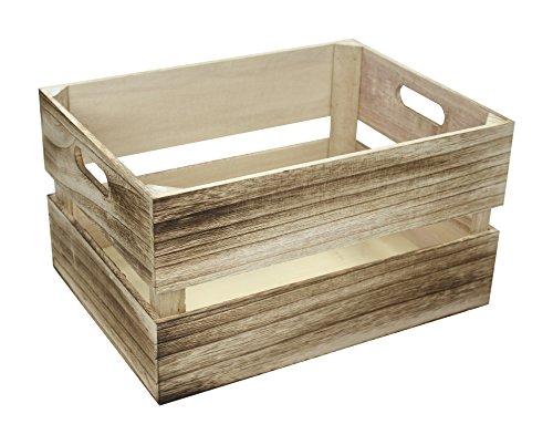 Holz Kiste klein 30 x 20 x 18 braun