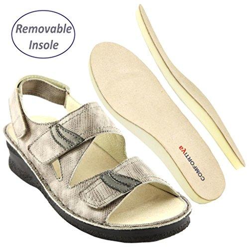 Comfortiya Womens Leather Casual Slingback product image