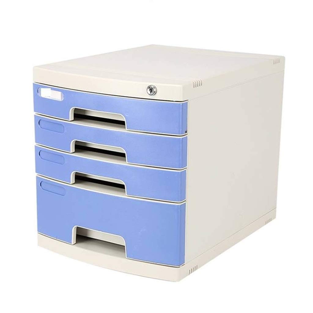 Filing Cabinet Lockable File Cabinet 4 Layers Desktop Data Storage Drawer Home Office Document Storage Box Flat File Cabinets