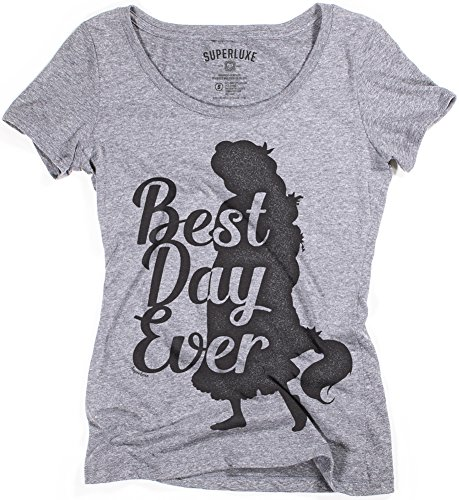 Superluxe Clothing Womens Best Day Ever Rapunzel Princess Tri-Blend Scoop Neck T-Shirt, Medium, Premium Heather]()