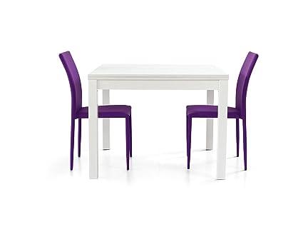 Lo Scrigno Arredamenti, Tavolo quadrato allungabile a libro bianco ...