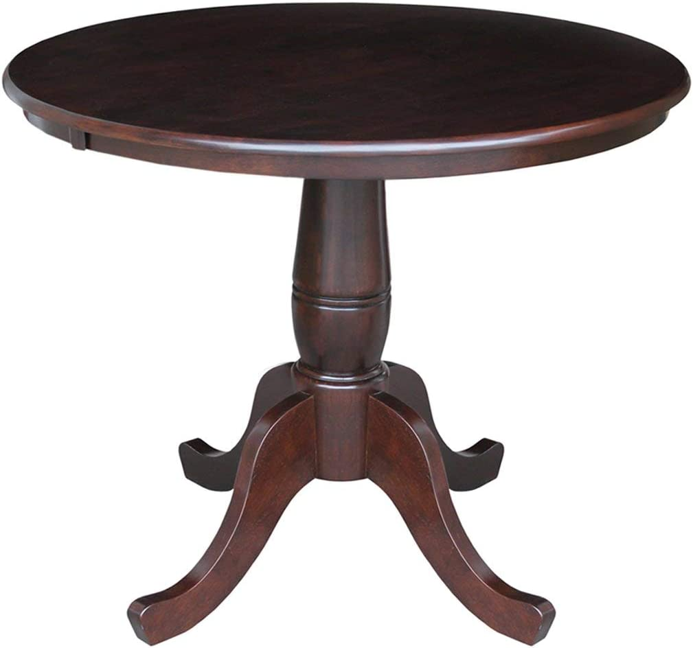International Concepts 36 Round Dining Table in Rich Mocha