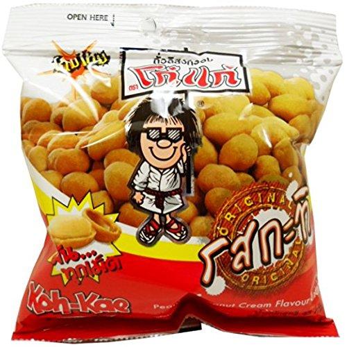 Koh-kae Snack Peanut Coconut Cream Flavour Coated 22 G ( 0.7 Oz) Pack of 12 - Spray Victoria Secret Combo