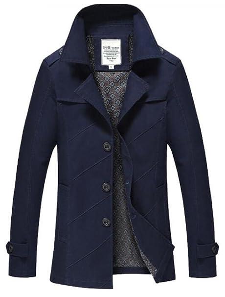 Vogstyle Men's Autumn Winter Slim Fit Long Sleeve Casual Lightweight Jacket Parka Trench Coats Blazer Outerwear