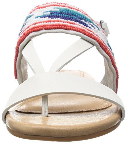 UGG Sandalette Zehentrenner Verona 1011631 Zierperlenstickerei in White Wall Weiß