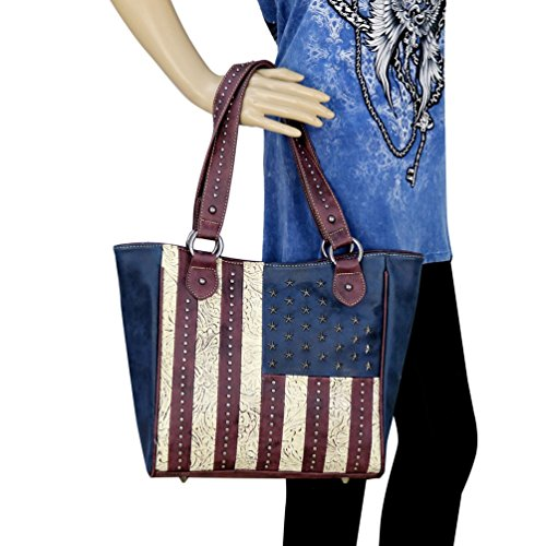 American Pride Collection Concealed Handgun Hobo Tote (Burgundy)