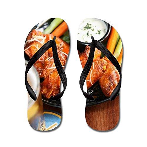 CafePress - Buffalo Wings With Bleu Cheese Dipping - Flip Flops, Funny Thong Sandals, Beach (Buffalo Bleu Cheese Dip)