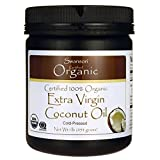 Swanson Certified 100% Organic Extra Virgin Coconut Oil 16 oz (1 lb) (454 g) Solid Oil