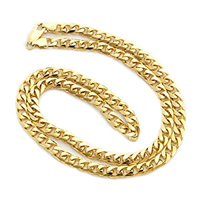 """Solid 14k Yellow or White Gold 5.5mm Heavy Miami Cuban Link Chain Necklace, 22"""" 24"""" 30"""""""