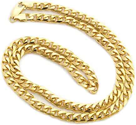 Solid 14k Yellow or White Gold 5.5mm Heavy Miami Cuban Link Chain Necklace, 22