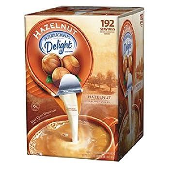 SCS9 International Delight Hazelnut Coffee Creamer- Box of 192 Servings by International Delight