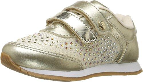 Pampili Girl's Joy 106.037 (Toddler/Little Kid/Big Kid) Gold Sneaker 29
