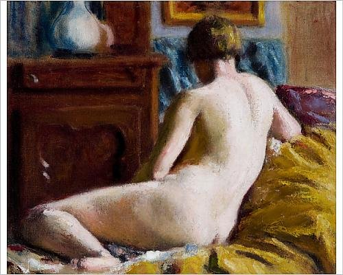 Photographic Print of Reclining Nude