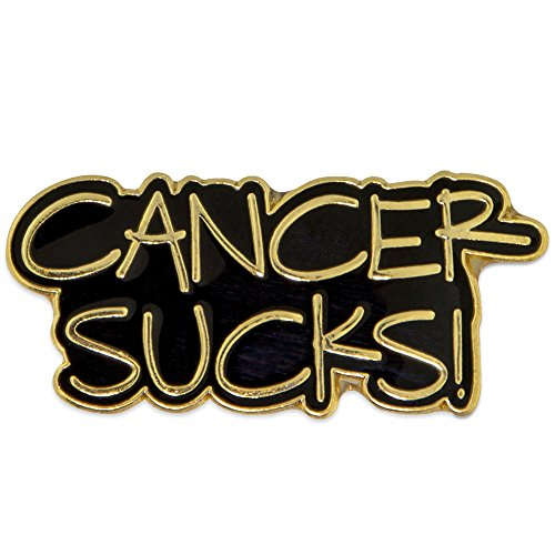 PinMart Gold Plated CANCER SUCKS! Awareness Enamel Lapel Pin