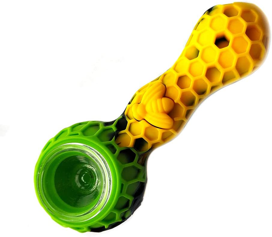 Silicone Travel Foldable Unbreakable Art Hose 4.2 inch Long (Yellow/&Green/&Black)