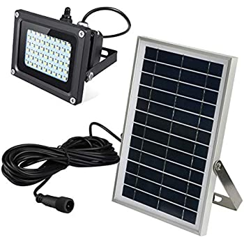 Ultra Bright Solar Flood Light Outdoor with Long Cable - Waterproof Wireless Solar Powered Security White Spotlight Wide Area Lighting for Garden, Wall, ...