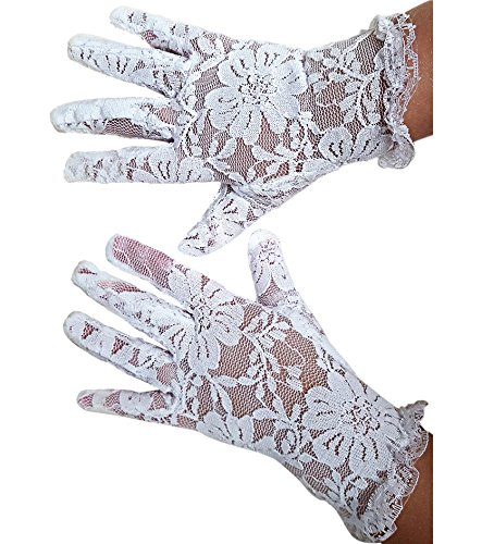 White Lace Communion Gloves toddlers. Super Cute Boys & Girls. Special Occasion. Wedding. Christmas. Dress Outfit -
