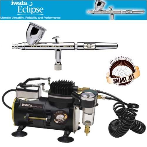 - Iwata Eclipse HP-CS Airbrushing System with Smart Jet Air Compressor