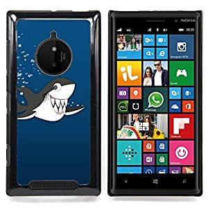 Jordan Colourful Shop - Killer Whale Cartoon Drawing Shark Teeth Cute For Nokia Lumia 830 - < Personalizado negro cubierta de la caja de pl??stico > -