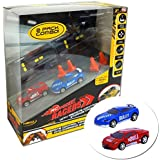 As Seen on TV RC - Pocket Racers With Remote Control Storage Case Micro Race Cars Vehicle - 2 PACK COMBO
