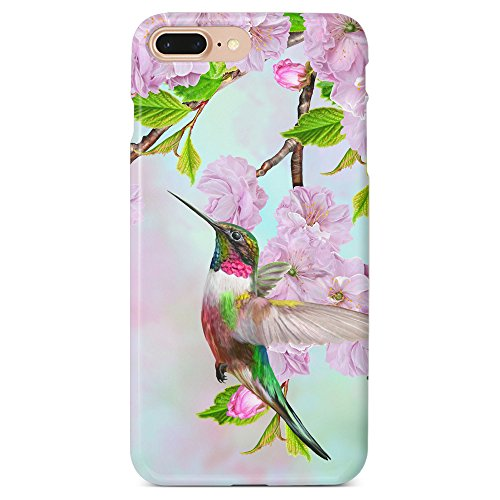 Monarque iPhone Case with Smooth Premium Durable Scratch-Resistant TPU Material with Hummingbird Design Fit for iPhone 6 Plus iPhone 7 Plus iPhone 8 Plus (Hummingbird Iphone 6 Plus Case)