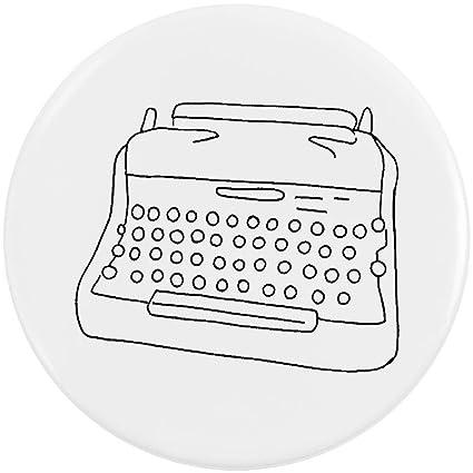 Azeeda 58mm Máquina de Escribir Insignia de Botón Pin (BB00056360)