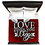 King Duvet Cover Love Gives You Wings