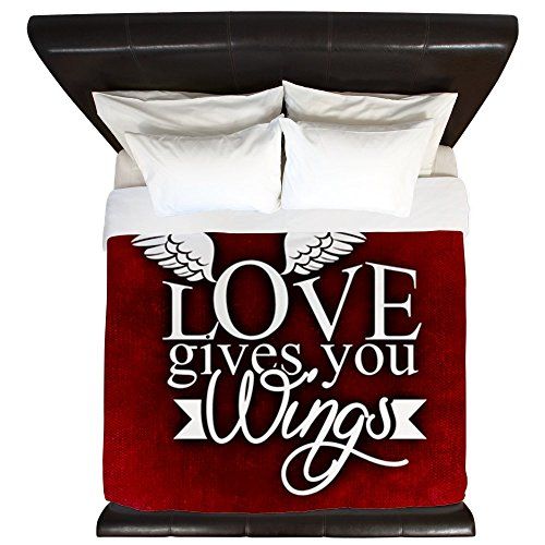 King Duvet Cover Love Gives You Wings by Truly Teague