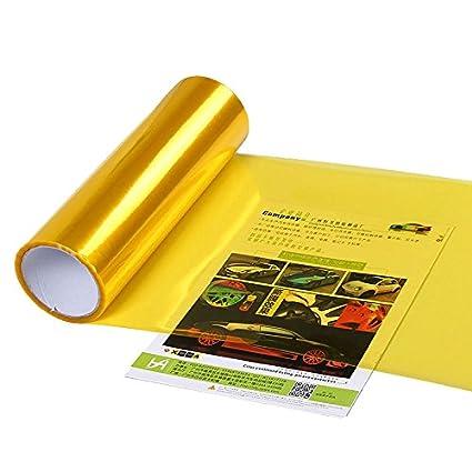Sedeta/® Or Jaune 30CM x 120cm Phare de Voiture Couvre Collage Moteur Lampe lumi/ère Phare antibrouillard Red/éfinir Film Protection