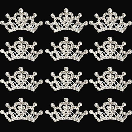 XiangGuanQianYing Princess Crown Comb Tiara Hair Clips for Princess Party Favor 12 -