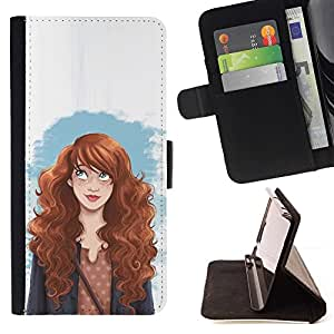Momo Phone Case / Flip Funda de Cuero Case Cover - Fashion Girl femme ses droits - HTC One M8