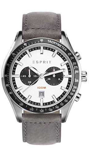 Esprit Watch Ryan Grey - ES108241001-Grey - calfskin-Round - 45 mm
