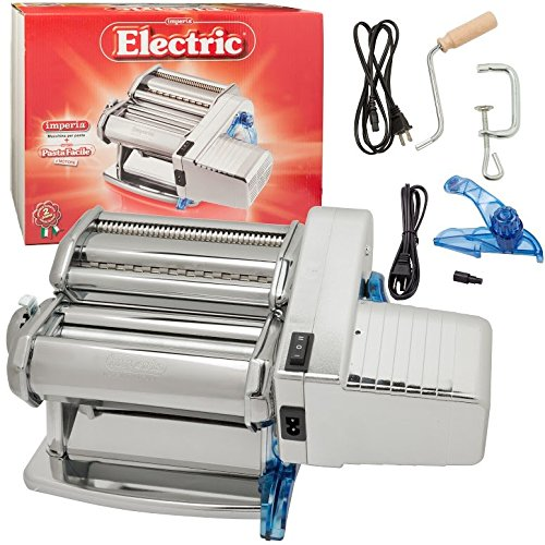 Imperia Pasta Machine and Motor by Cucina Pro (152) - Dual Speed with Double Cutter by CucinaPro