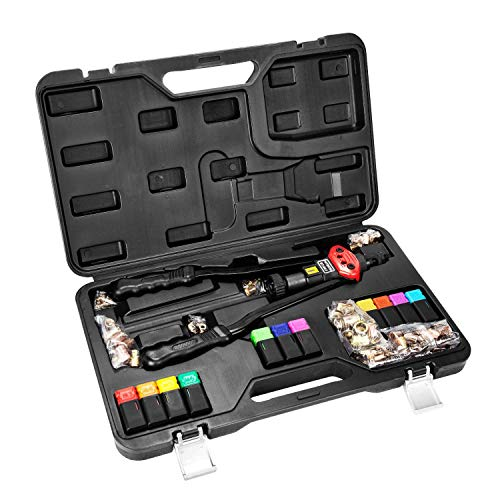 """16""""Hand Rivet Nut Tool, Professional Rivet Nut Setter Kit with 11PCS Metric & Inch Mandrels,110PCS Rivet Nuts, Sturdy Plastic Case for Protection and Organized Storage by Thorbuyys (Image #1)"""