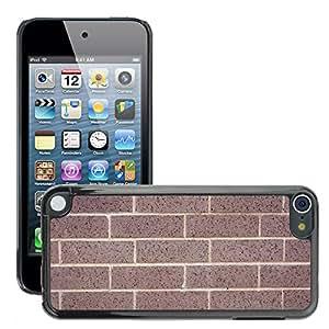 Etui Housse Coque de Protection Cover Rigide pour // M00152861 Ladrillos Pared de ladrillo telón de // Apple ipod Touch 5 5G 5th