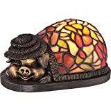 Quoizel TFX1885Y Ashley Harbor Tiffany Pig Table Lamp - 1-Light - 7 Watts - Bronze (4