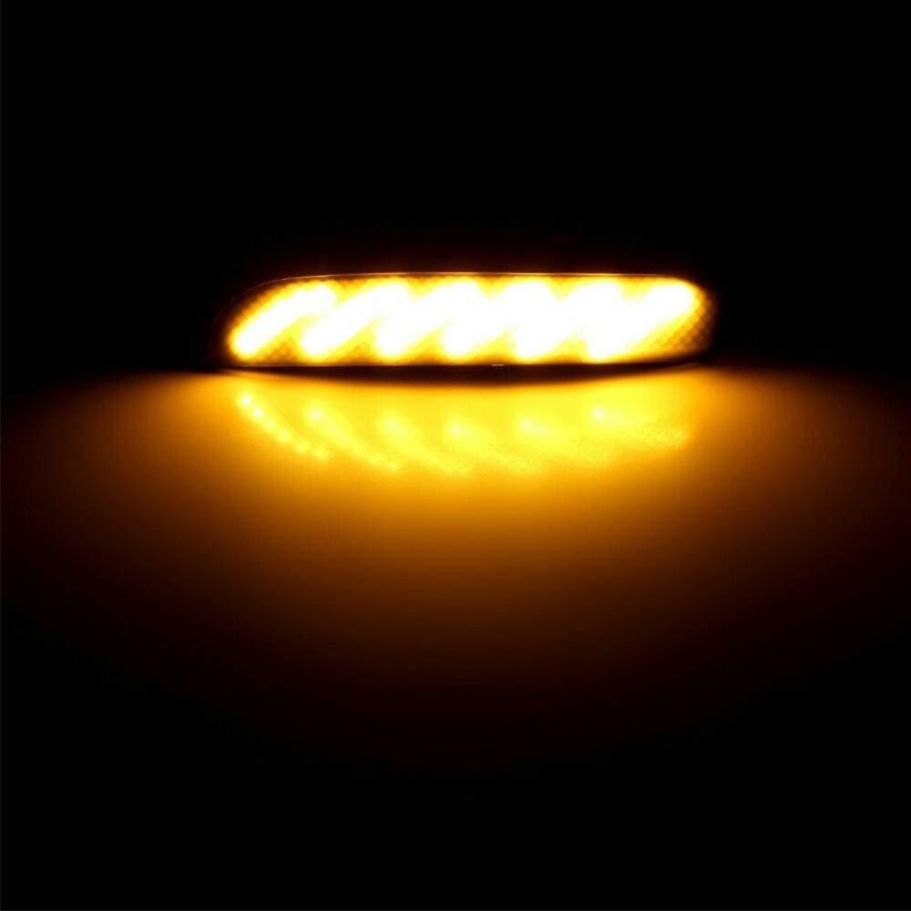 Indicateur de clignotant lumineux /à DEL noir dynamique pour Ford Kuga Ecosport 2Pcs
