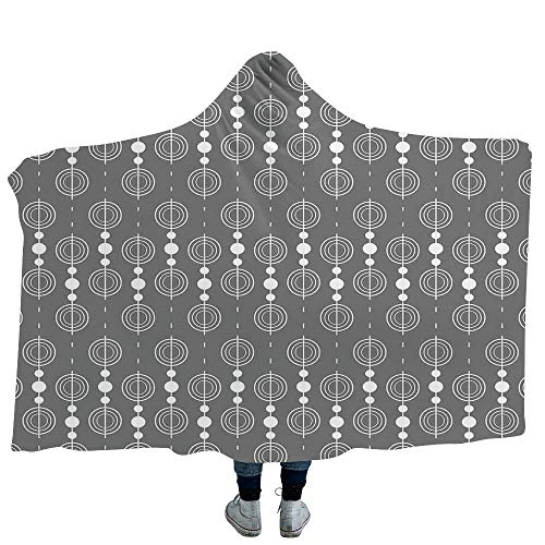 MASCULINTY Mens Hooded Blanket Halloween Blankets Made from Our Best Relaxation Sleep Fabric Haunted House with Dark Horror Atmosphere Cloudy Mysterious Frightening (Kids 50
