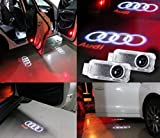 XYZCTEM®Car Door Led Laser Welcome Projector Logo Ghost Shadow Light for Audi A1 A3 A4 A4L A5 A6 A6L A7 A8 Q3 Q5 Q7 R8 TT-Pack of 2