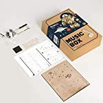 "Hands Craft AM601: DIY Build Your Own 3D Wooden Puzzle Music Box with Hand Crank Kit (Orpheus Robot)- Plays tune ""Can't Take My Eyes Off of You"", Educational STEM Project Brain Teaser Gift 7"