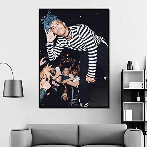 Xxxtentacion Poster Xxxtentacion Canvas Print Xxxtentacion Wall Art Xxxtentacion Home Decor Jahseh Onfroy Watercolor Print