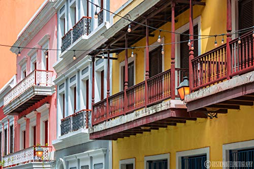 Old San Juan Print, Balconies Art Print, Rustic Wall Art, Colorful Buildings, Puerto Rico Wall Art, Living Room Decor, Gift for Mom, ()