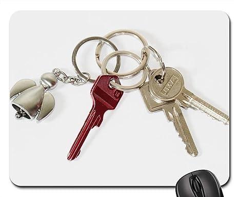 Amazon.com: Almohadillas para ratón, llavero, puerta, llave ...